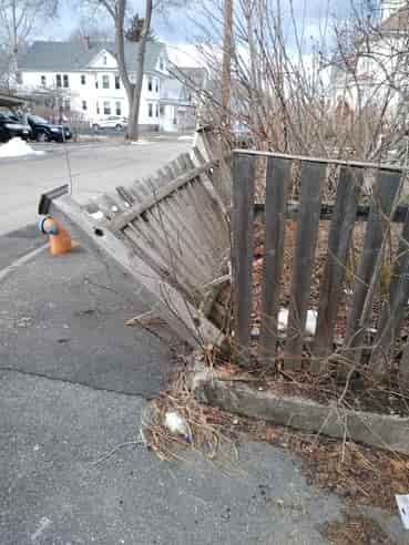 wooden fence repair